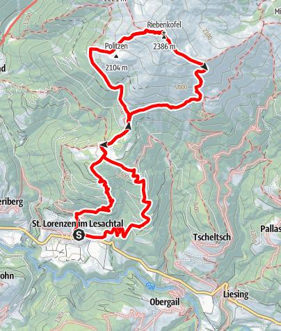 Karte / Riebenkofel (2.386 m)