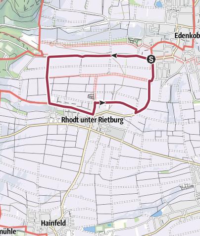 Karte / Pfälzer Mandelpfad (Rundweg 1)