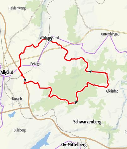 Karte / Kempter-Wald Runde