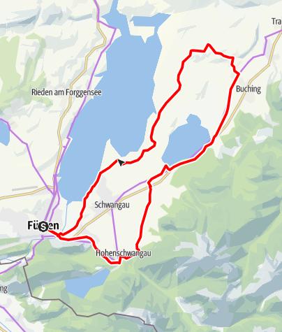 Karte / Bannwaldsee-Runde