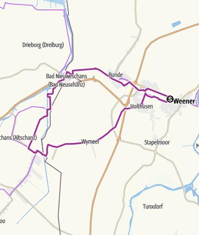 Karte / Kaas+Coffie-Tour