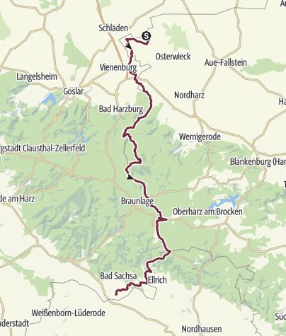 Ddr Grenze Karte Harz.Harzer Grenzweg Am Grunen Band Fernwanderweg