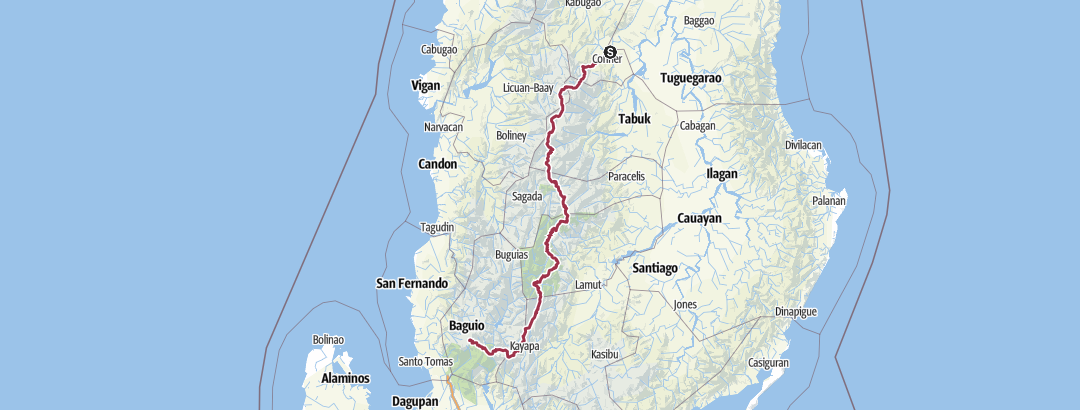 Karte / Cordillera Great Trail