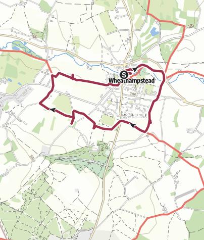 Map / Wheathampstead circular 14 Dec 2019