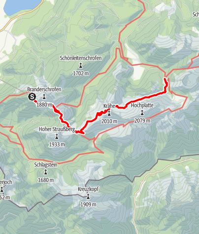 Karte / Tegelberg - Kenzenhütte