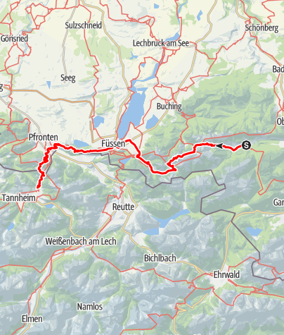 Karte / Via alpina