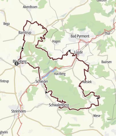 Karte / Pilgern in Lippe - Ostschleife