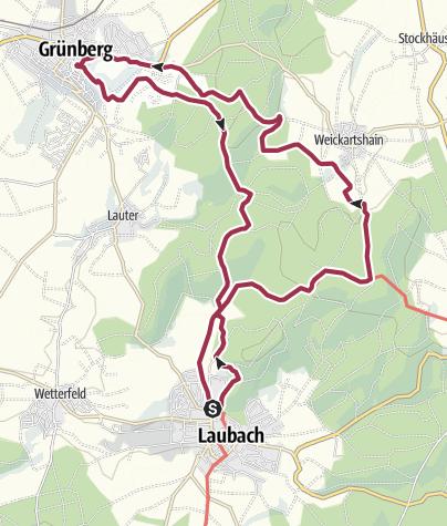 Karte / Residenzenring Teil 1: Laubach-Grünberg