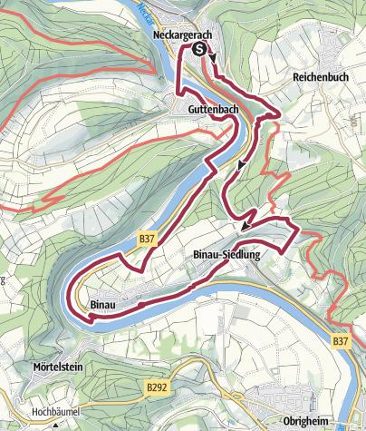 Karte / Durch die Margarethenschlucht