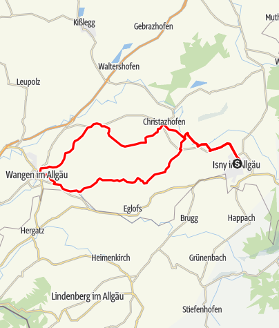 Karte / Von Isny über Argenbühl nach Wangen