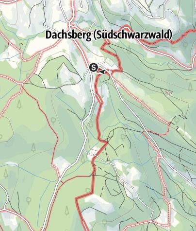 Karte / Dachsberg: Baumlehrpfad bei der Dachsberg-Halle