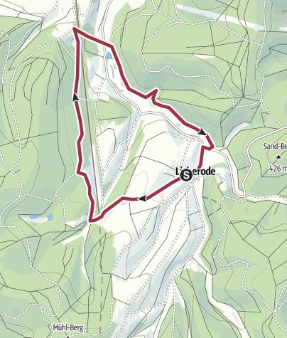 Karte / Alheim: Waldwunderweg Licherode