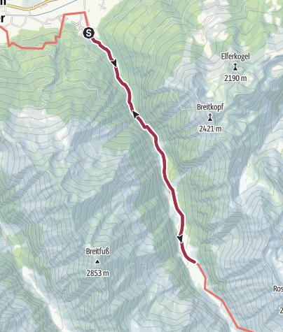 Karte / Habachtal - der Smaragdwanderweg