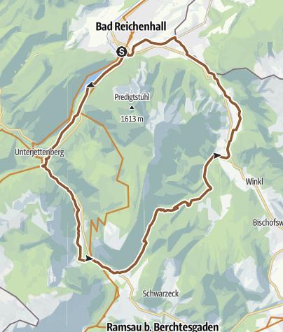 Karte / MTB: 14 - Rund um das Lattengebirge