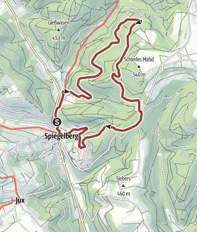 Karte / Glaswanderweg Spiegelberg
