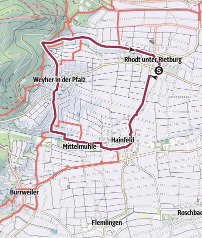 Karte / Pfälzer Mandelpfad (Rundweg 2)
