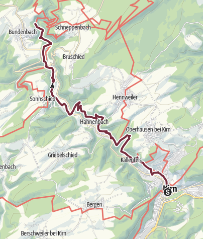 Karte / Soonwaldsteig - Etappe 01: Kirn-Bundenbach