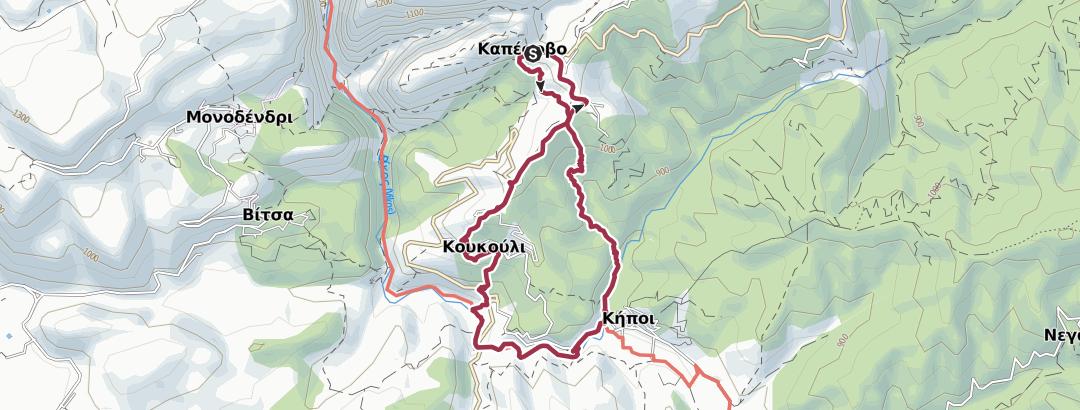 מפה / GR-VIH-SHRT-D3 Kapesovo / Kipi Walk