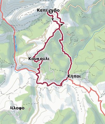 Térkép / GR-VIH-SHRT-D3 Kapesovo / Kipi Walk