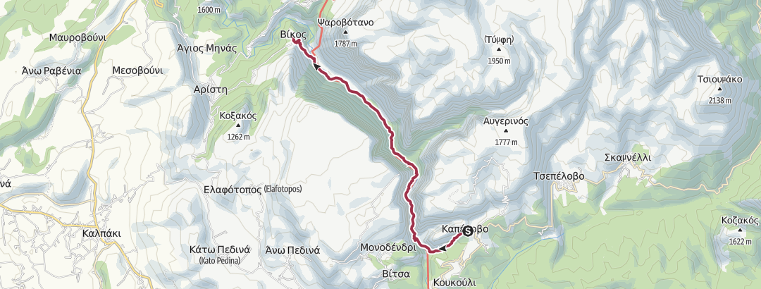 Map / GR-VIH-SHRT-D4 Vikos Gorge
