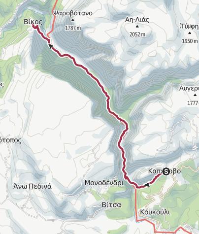 Karte / GR-VIH-SHRT-D4 Vikos Gorge