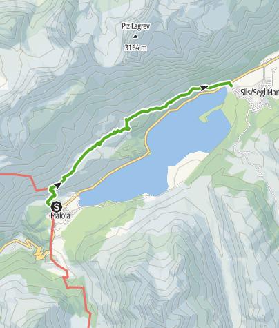Map / Oberengadin Lake Stroll