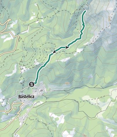 Karte / Zum Wasserfall Piscia d'Urtolu