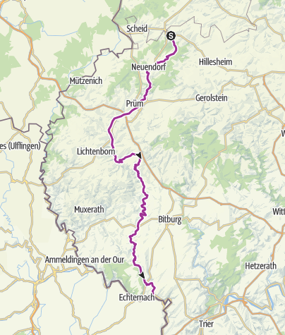 Karte / Prüm-Radweg (Stadtkyll - Minden/Sauer)