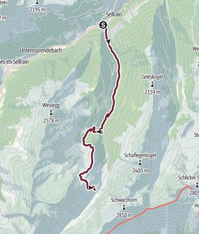 stubaier alpen sellrain wege und skitouren 125000 alpenvereinskarten