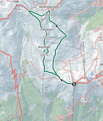 Map / Frühmesser im Wildkogelgebiet (2.233 m)