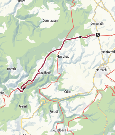 Karte / Ausoniusweg 04. Etappe: Morbach-Gonzerath - Gräfendhron