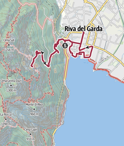 Karte / Riva und die Kapelle Santa Barbara