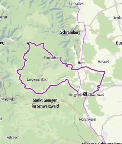 Karte / Königsfeld im Schwarzwald - Zum Windkapf