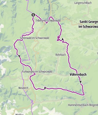 Karte / Ferienland-Route ab Schonach im Schwarzwald