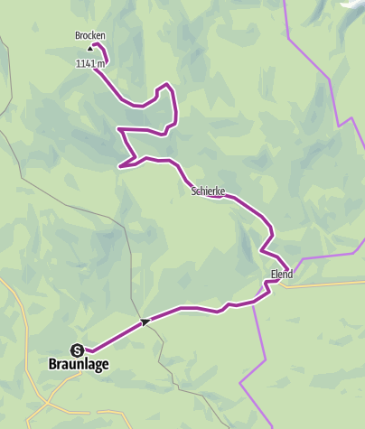 Térkép / Braunlage to Brocken, Germany