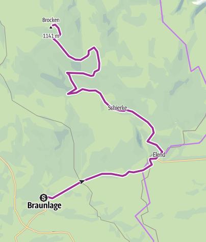 Mappa / Braunlage to Brocken, Germany