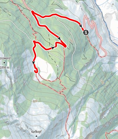 Karte / Hüttschlag: Hirschgrubenalm