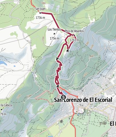 מפה / 2.Monte Abantos(1753 m)-San Juan