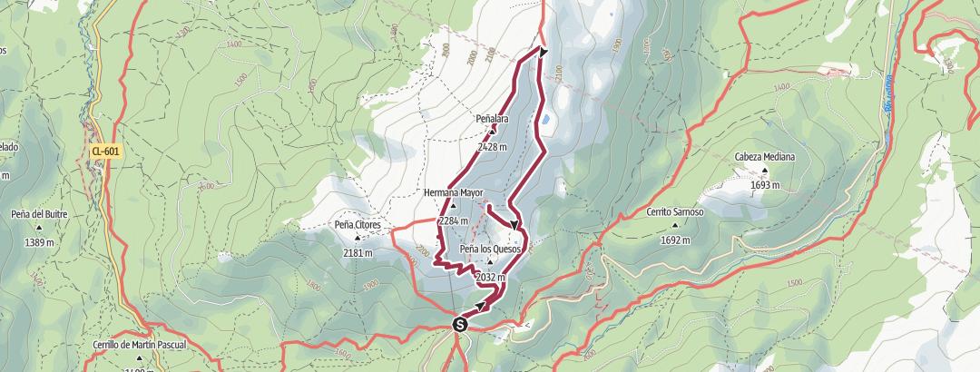 Kartta / 8.Circular Peñalara (2428 m)