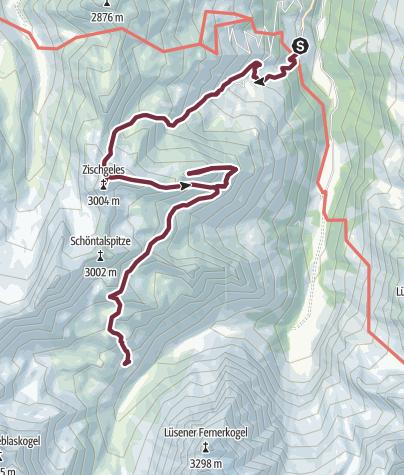 Map / SHR Hochalpin 3.Etappe: Praxmar - Westfalenhaus, Sellrainer Hüttenrunde