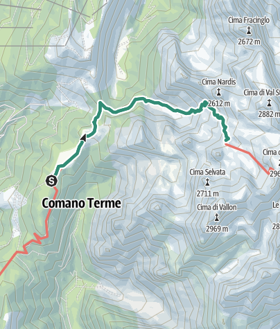 Karte / Wanderung zur Berghütte Rifugio XII Apostoli