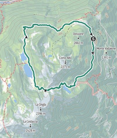 Karte / Rundwanderung zu den Laghi di San Giuliano