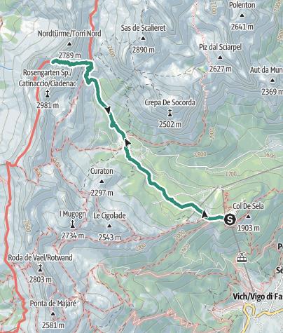 Karte / Vajolet-Wanderung