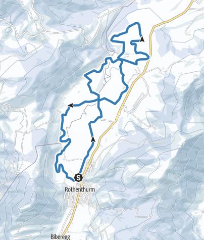 Karte / Finnenloipe Rothenthurm 15km