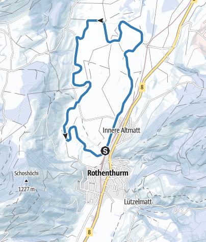 Karte / Finnenloipe Rothenturm 7km