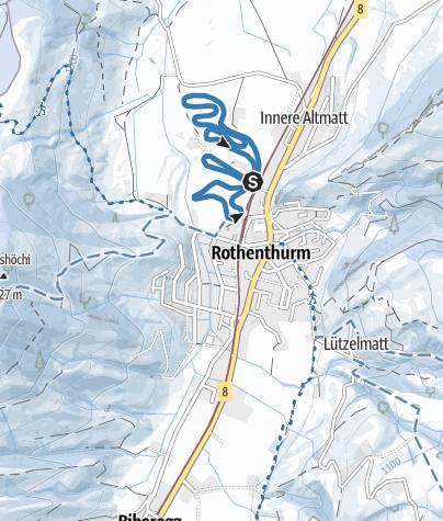 Karte / Finnenloipe Rothenthurm 3 km