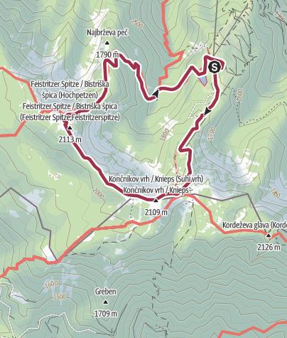 Map / Oberer Petzen-Rundmarsch
