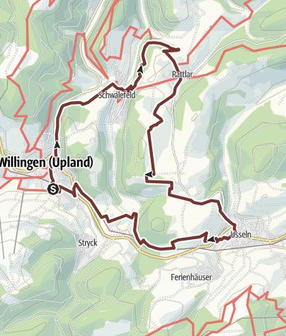"""Karte / Besinnungsweg """"Lebensspuren"""""""