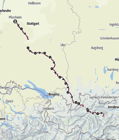 Map / Etappentour Pforzheim - Pforzheimer Hütte
