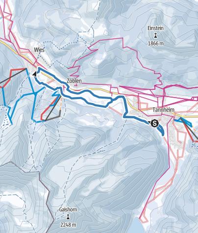 Karte / 2018_13 km_Klassik_SKI-TRAIL Tannheimer Tal - Bad Hindelang